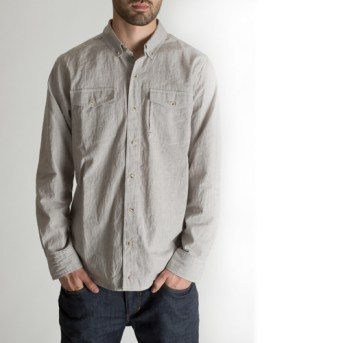 BLACKMANUFACTURING® Organic BD, Japanese Stripe Shirting, Organic Cotton/Linen Blend. Made in the U.S.A.