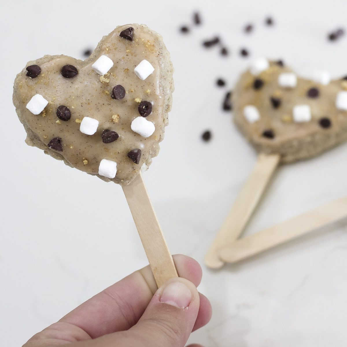 chocolate chips and marshmallows
