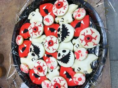 Halloween Tray (eyeballls, skeletons, ghosts, blood)