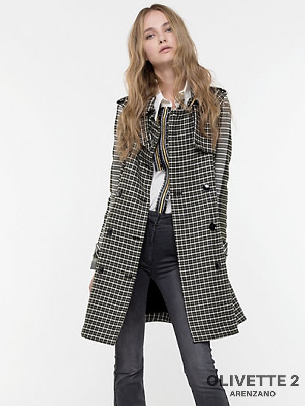 Abbigliamento Patrizia Pepe  Trench in Tweed British Tweed female collezione 2020 shop the look