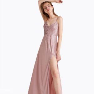 Abbigliamento Patrizia Pepe  Abito lungo in georgette laminata Wood Rose female collezione 2020 shop the look