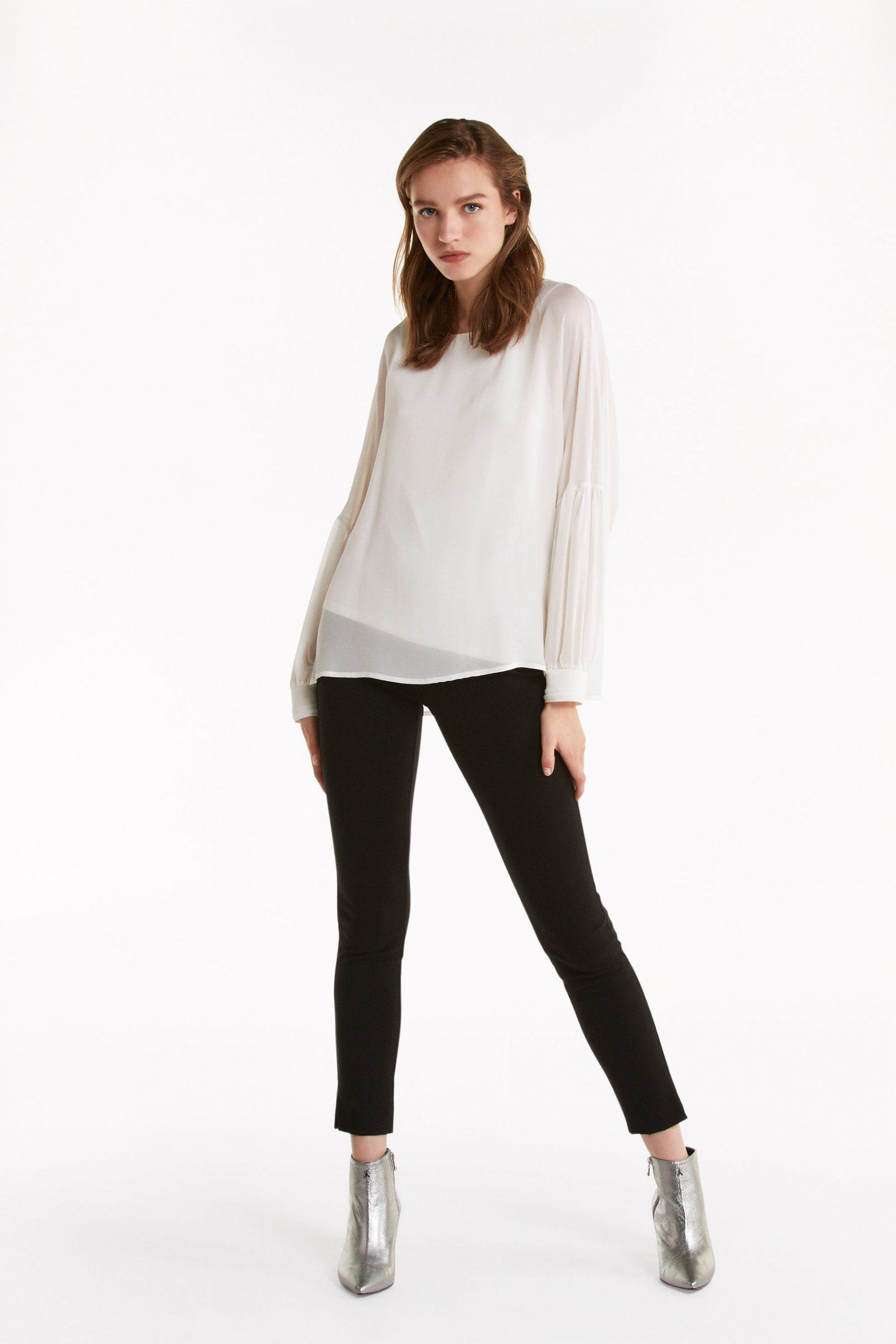 Abbigliamento Patrizia Pepe  Blusa in georgette  effetto doppio capo White female collezione 2020 shop the look