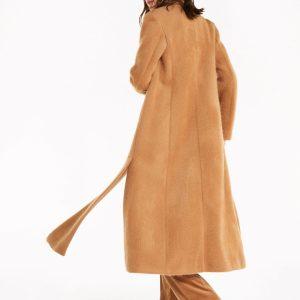 Abbigliamento Patrizia Pepe  Cappotto lungo effetto spettinato Light Mustard Brown female collezione 2020 shop the look