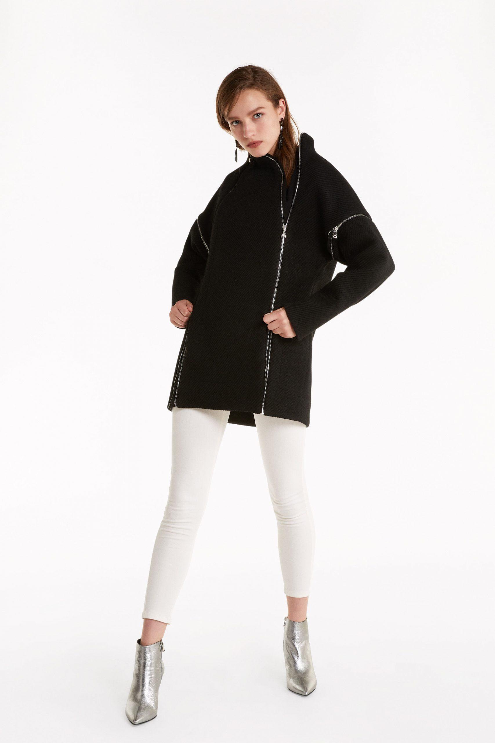 Abbigliamento Patrizia Pepe  Cappotto in panno diagonale misto lana Black female collezione 2020 shop the look