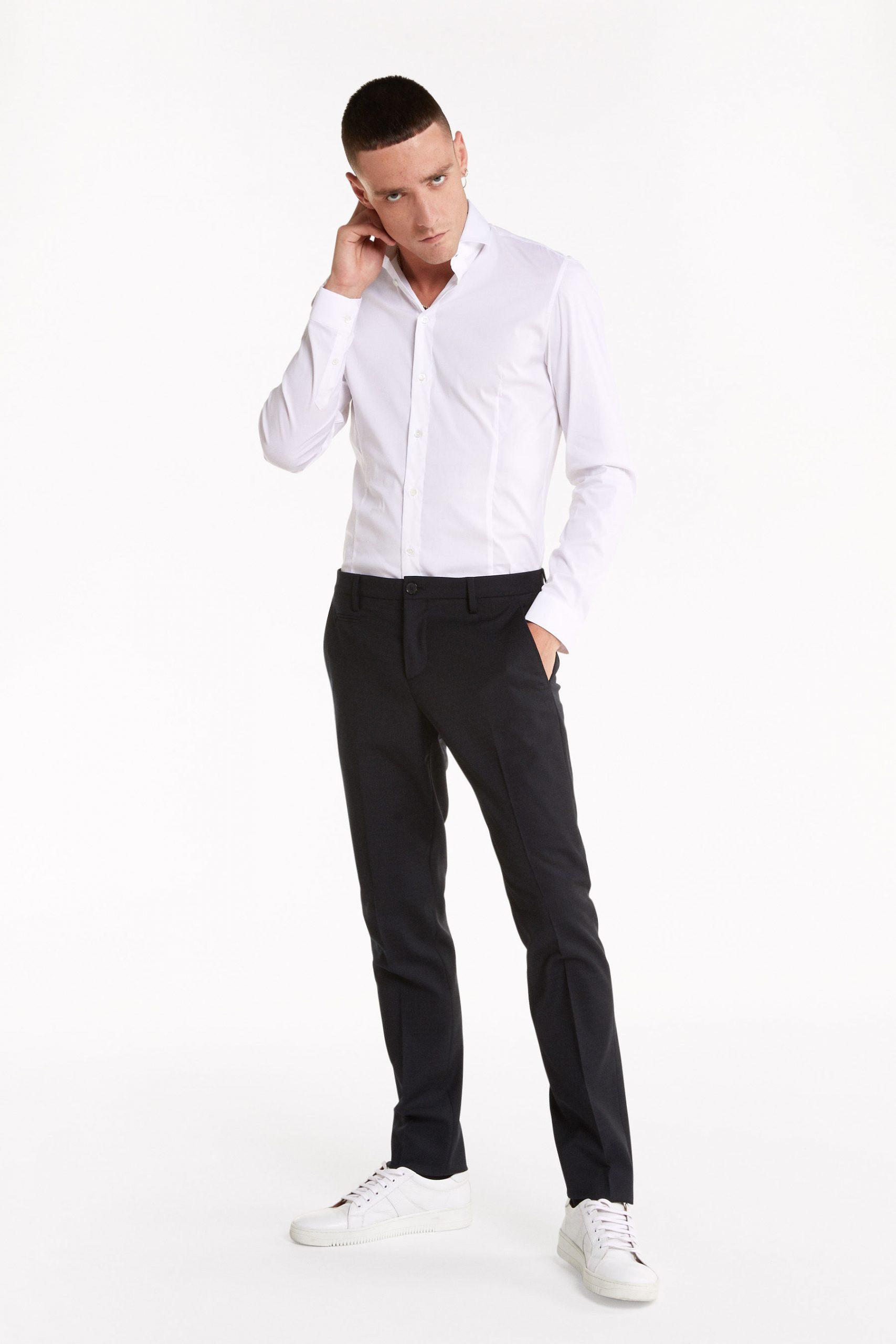 Abbigliamento Patrizia Pepe  Camicia in popeline di cotone stretch Optical white male collezione 2020 shop the look