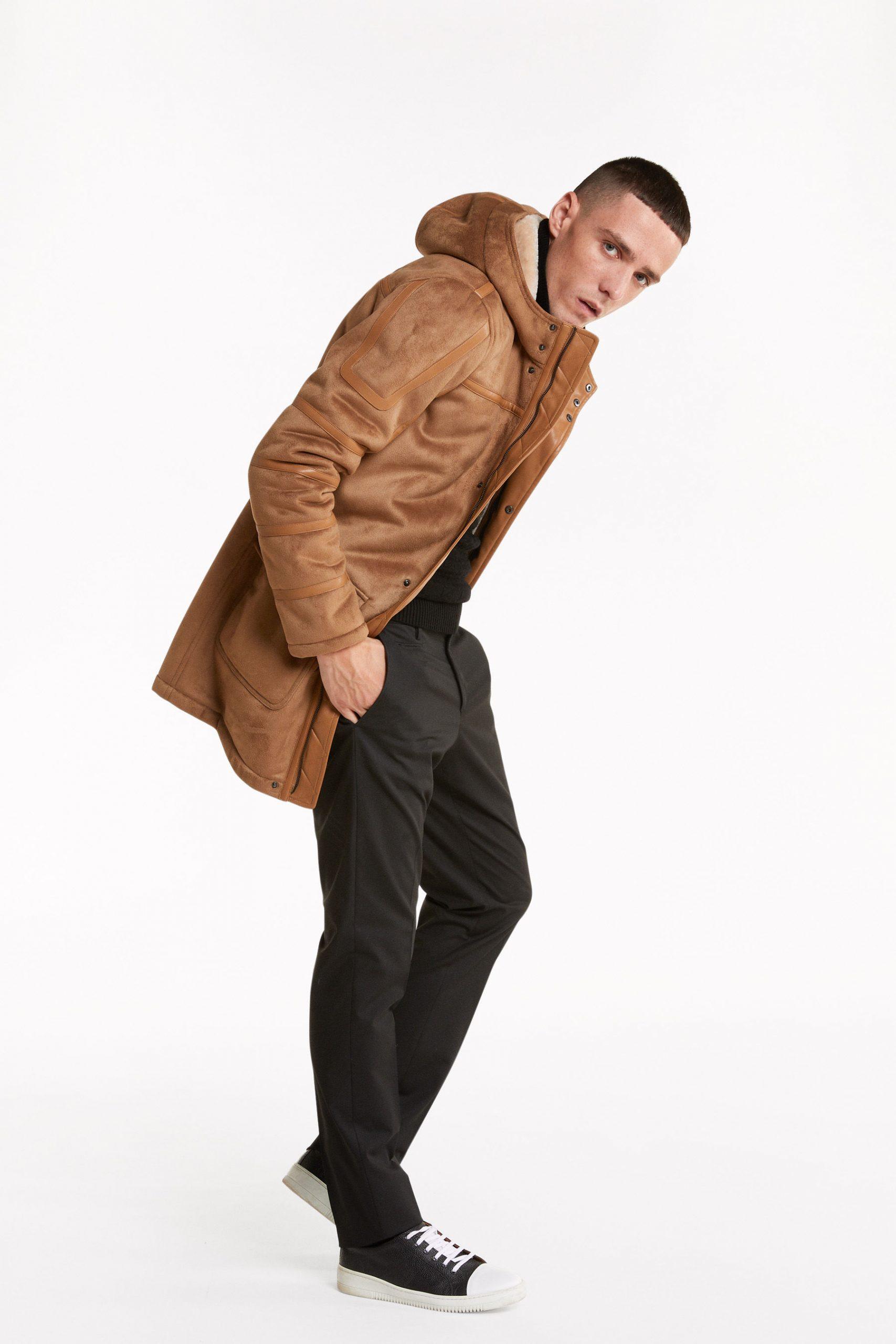 Abbigliamento Patrizia Pepe  Cappotto Montgomery FlannelBeige/Natural male collezione 2020 shop the look