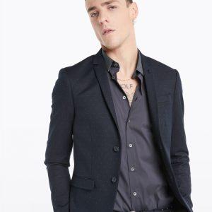 Abbigliamento Patrizia Pepe  Giacca classica 2 bottoni Royal Navy Dot male collezione 2020 shop the look