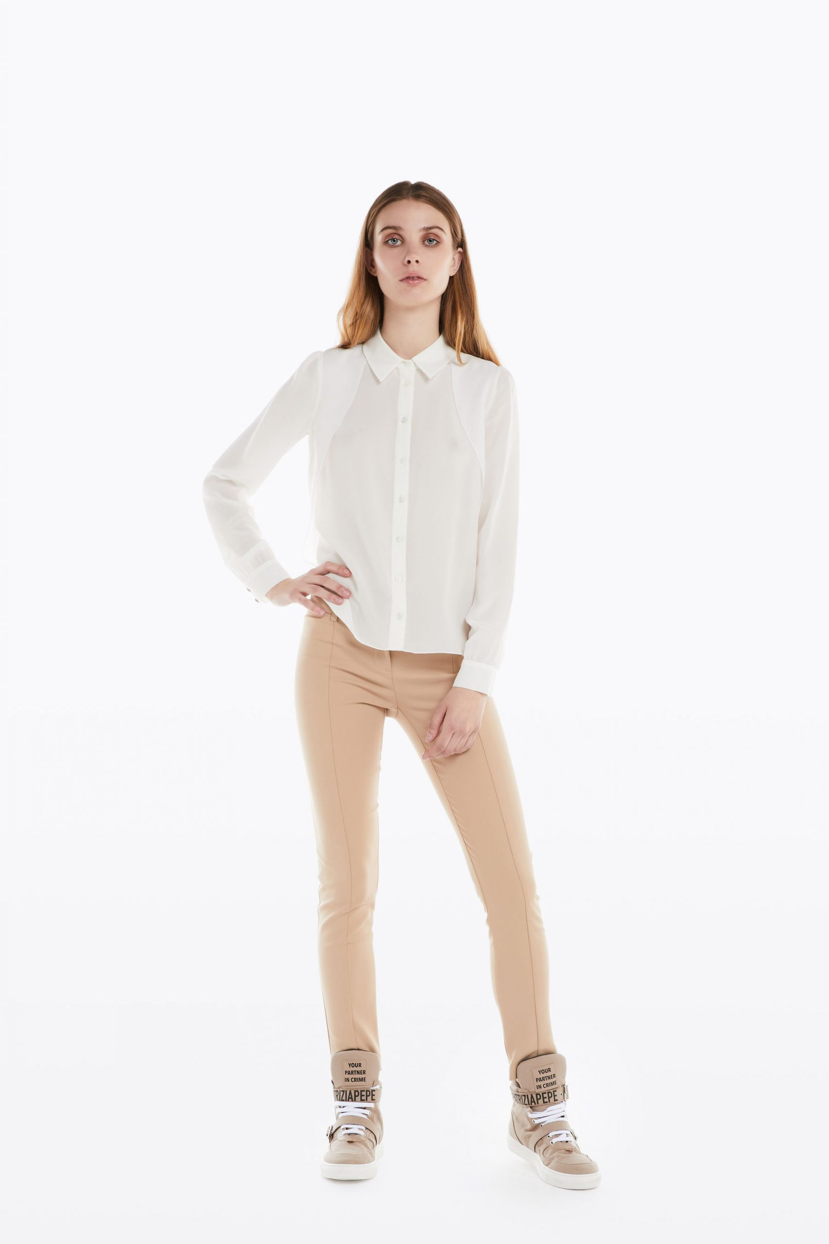 Abbigliamento Patrizia Pepe  Camicia in seta White female collezione 2020 shop the look