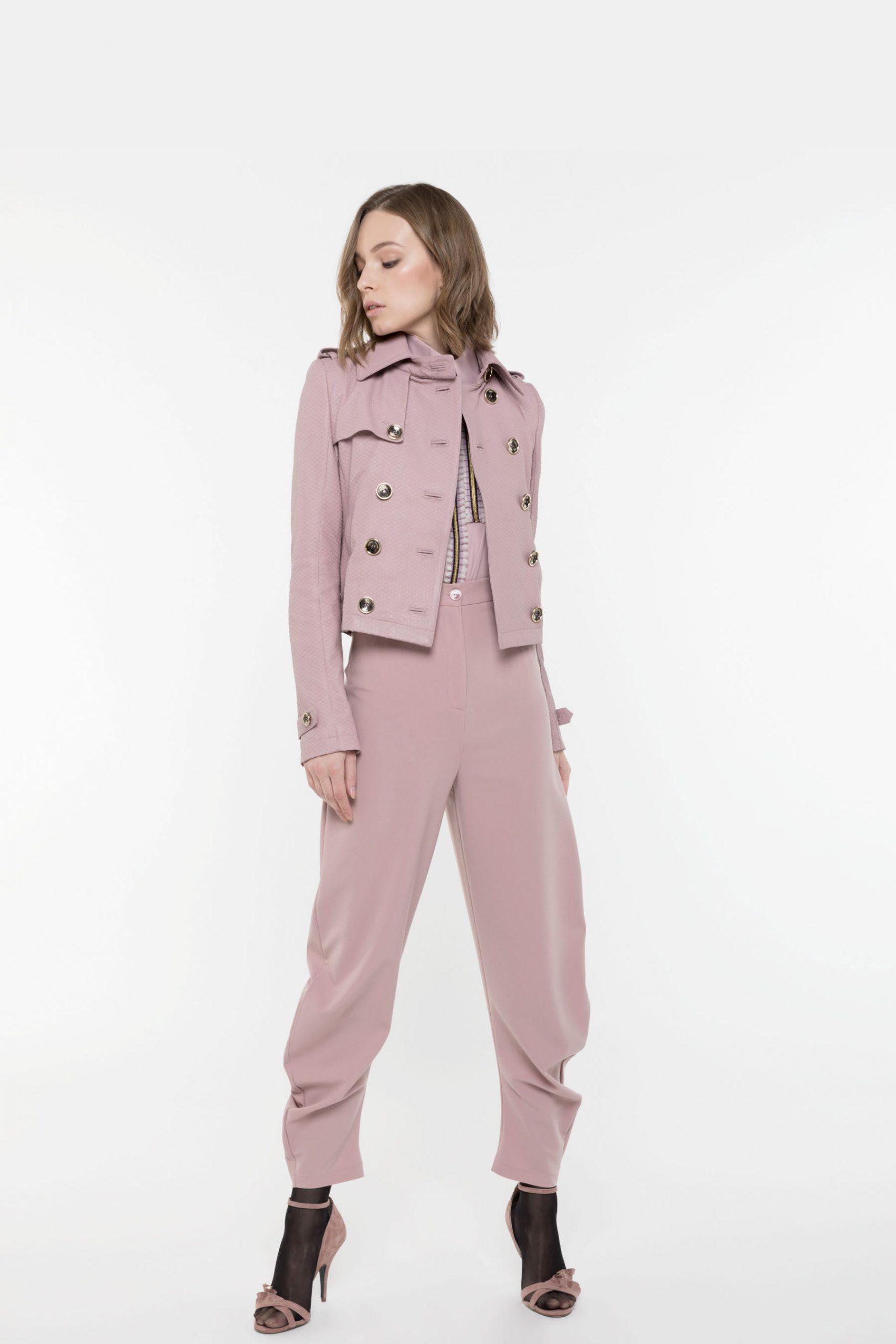 Abbigliamento Patrizia Pepe  Giubbotto in pelle Cloud Rose female collezione 2020 shop the look