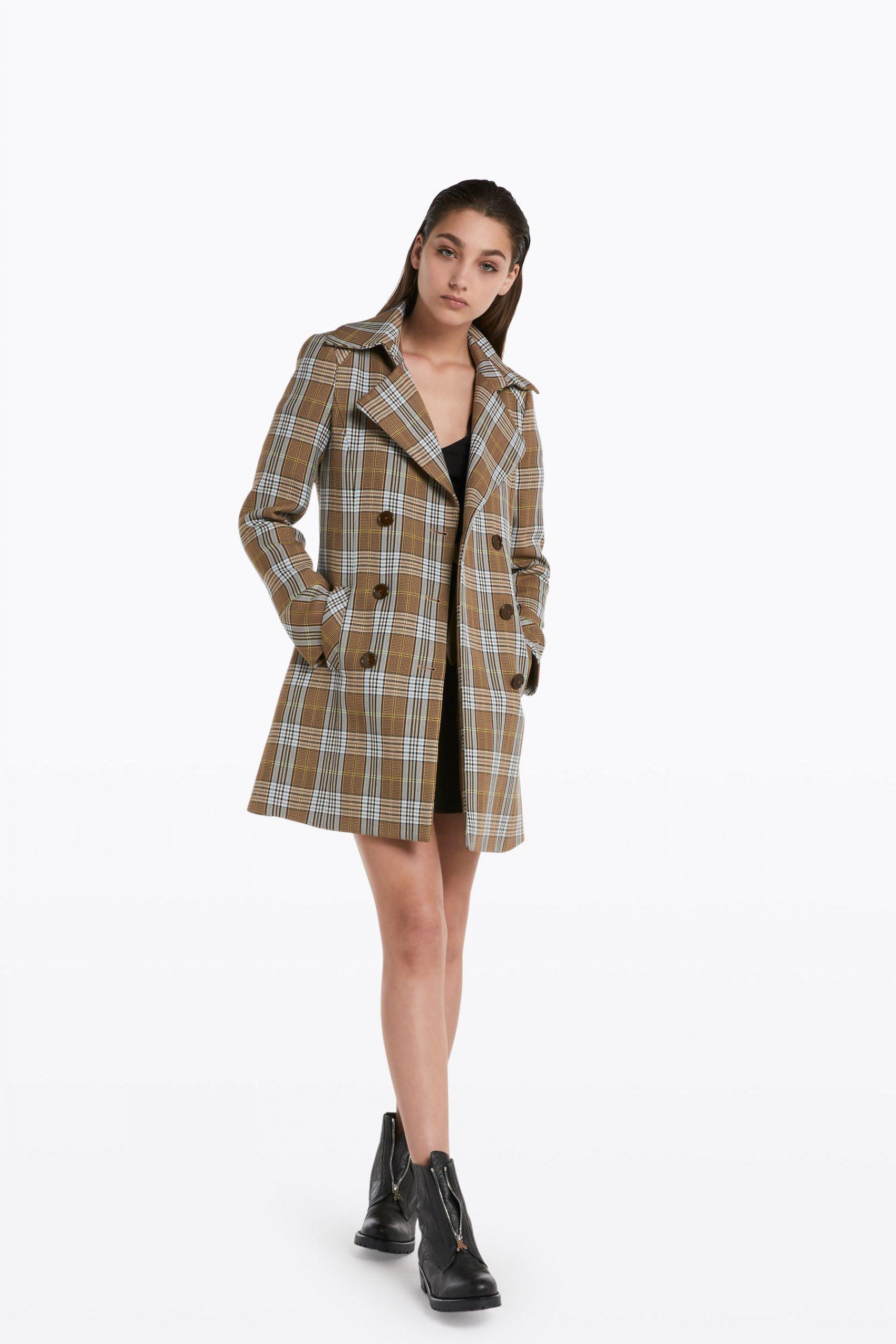 Abbigliamento Patrizia Pepe  Cappotto check doppio petto Beige Check female collezione 2020 shop the look