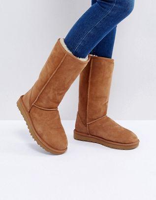 Ugg stivali alti con pelliccia interna in montone scarpe di tendenza di moda 2020