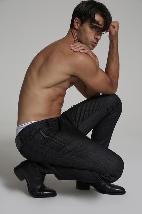 DSQUARED2 Uomo Pantalone Nero Taglia 56 98% Cotone 2% Elastan
