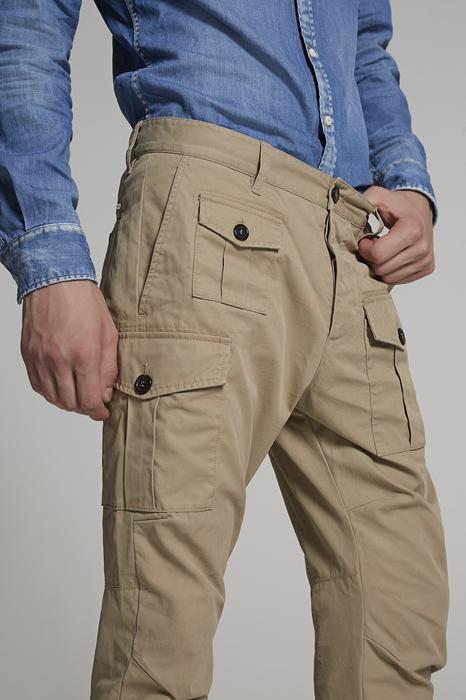 DSQUARED2 Uomo Pantalone Beige Taglia 56 100% Cotone