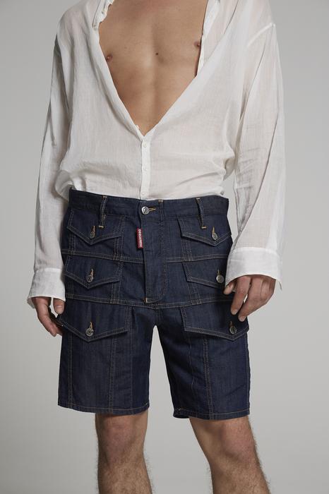 DSQUARED2 Uomo Shorts Blu Taglia 42 98% Cotone 2% Elastan