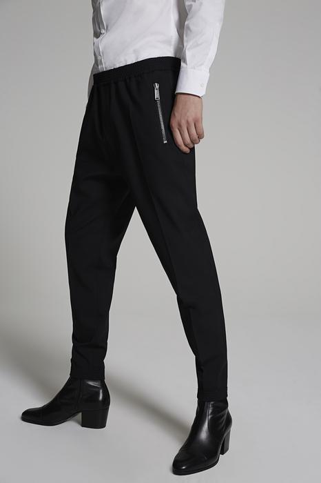 DSQUARED2 Uomo Pantalone Nero Taglia 42 99% Lana Vergine 1% Elastan