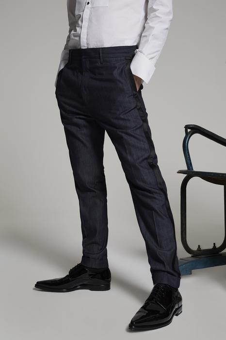 DSQUARED2 Uomo Pantalone Blu Taglia 42 100% Cotone