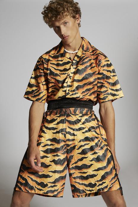 DSQUARED2 Uomo Shorts Arancione Taglia 54 100% Polietilene