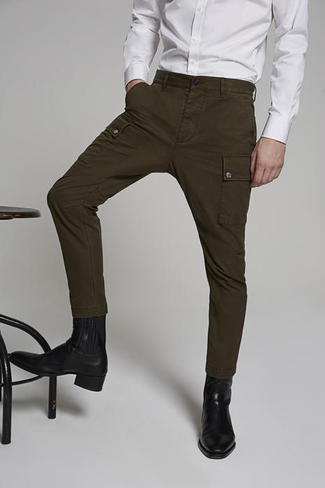 DSQUARED2 Uomo Pantalone Verde militare Taglia 56 100% Cotone