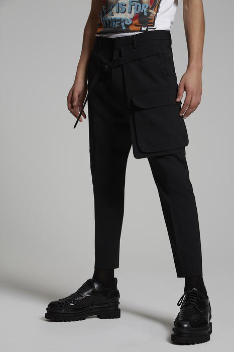 DSQUARED2 Uomo Pantalone Nero Taglia 56 95% Lana Vergine 5% Elastan