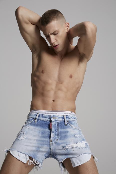 DSQUARED2 Uomo Shorts Blu Taglia 42 100% Cotone