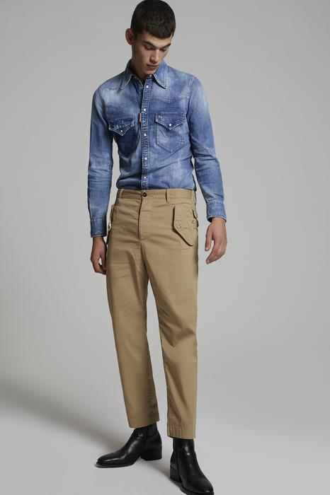 DSQUARED2 Uomo Pantalone Beige Taglia 42 97% Cotone 3% Elastan