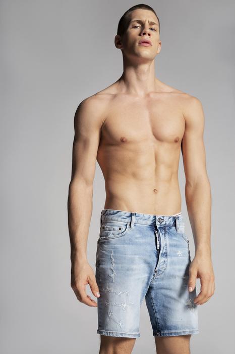 DSQUARED2 Uomo Shorts Blu Taglia 42 99% Cotone 1% Elastan