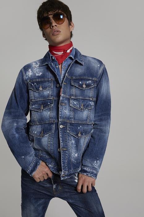 DSQUARED2 Uomo Capospalla jeans Blu Taglia XXL 100% Cotone