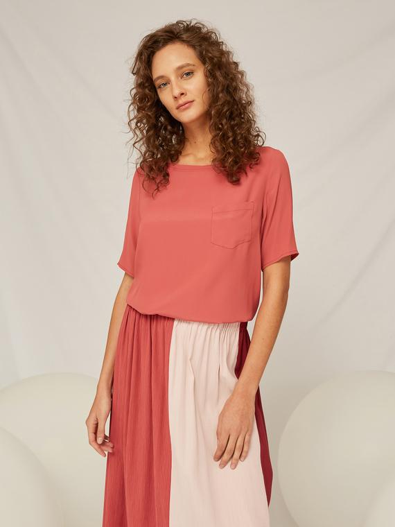 Caractere Abbigliamento > Camicie e bluse Rosa - Caractère Blusa tinta unita Donna Rosa