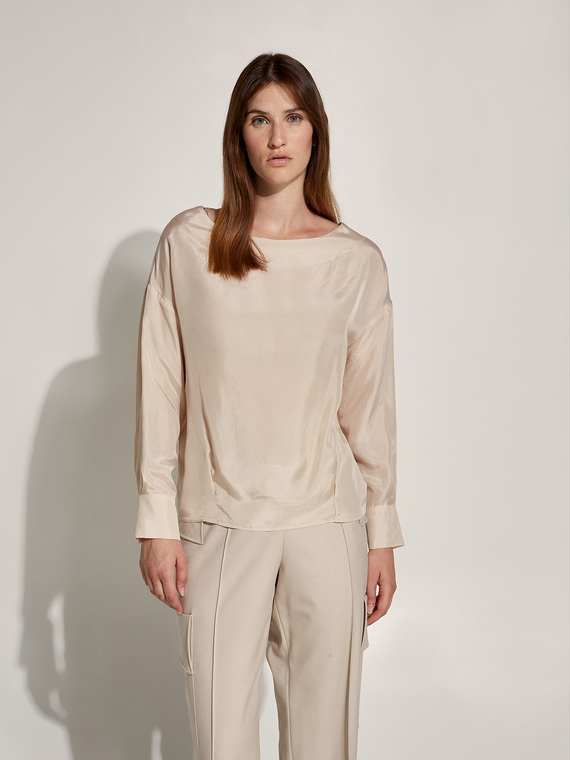 Caractere New season preview Beige - Caractère Blusa in cupro Donna Beige
