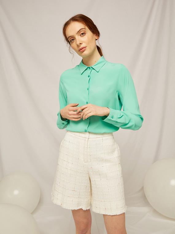 Caractere Abbigliamento > Camicie e bluse Verde - Caractère Camicia tinta unita Donna Verde