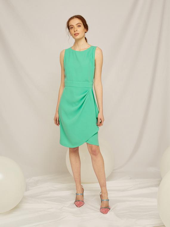 Caractere Abbigliamento > Abiti Verde - Caractère Abito elegante con pieghe Donna Verde