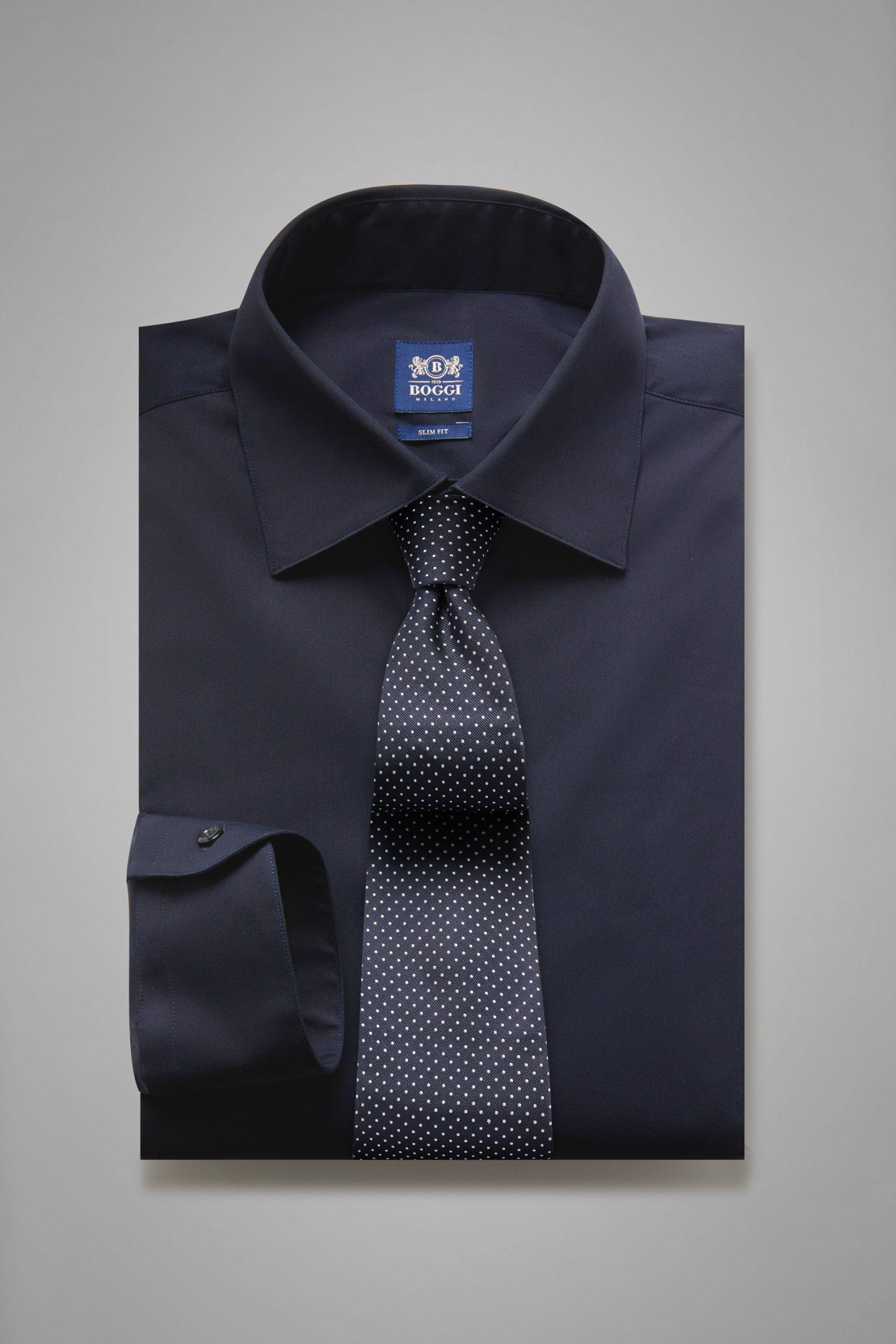 Camicie da uomo in colore Navy in materiale