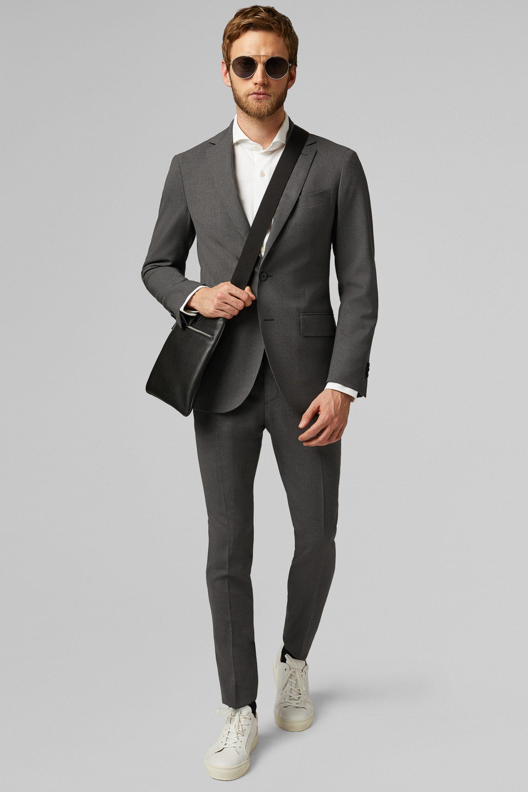 Giacca da abito da uomo in colore Grigio in materiale