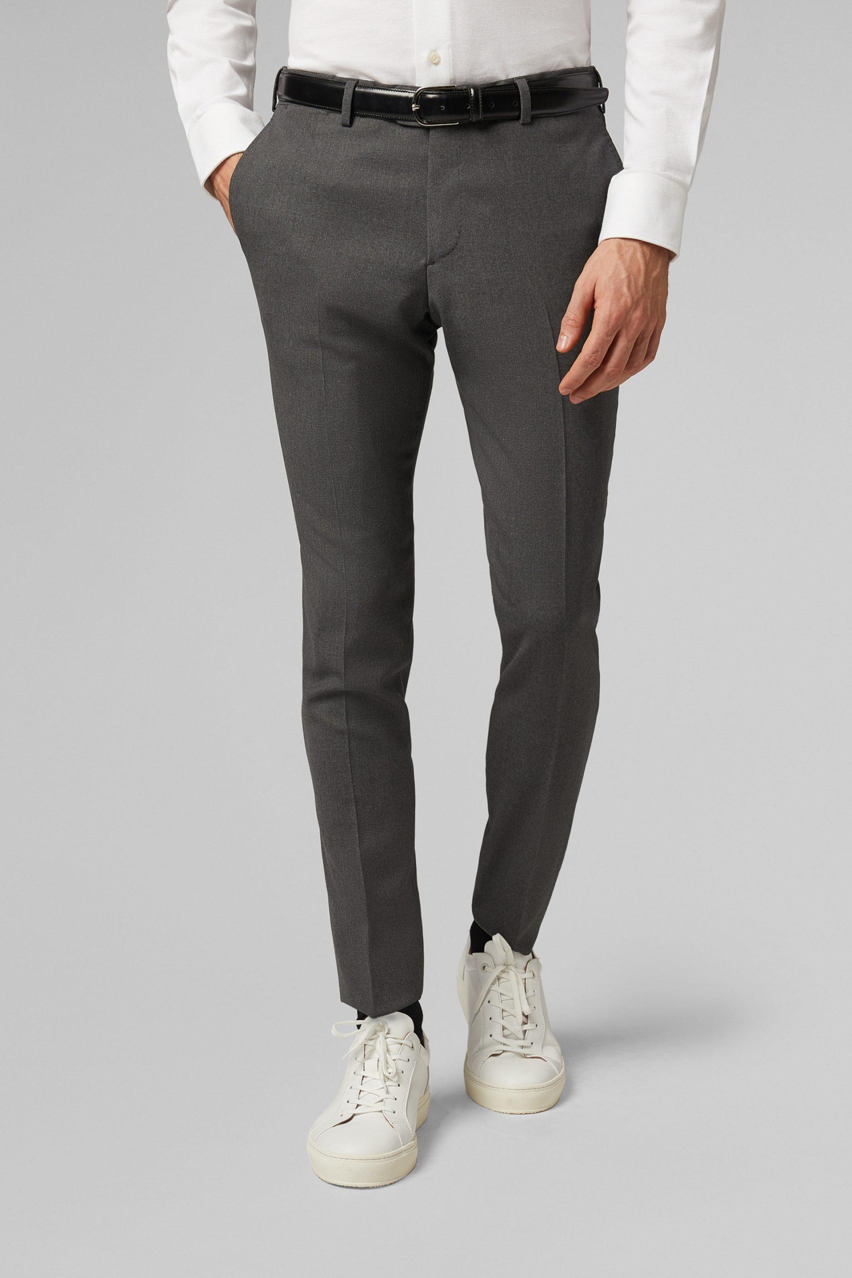 Pantaloni da uomo in colore Grigio in materiale