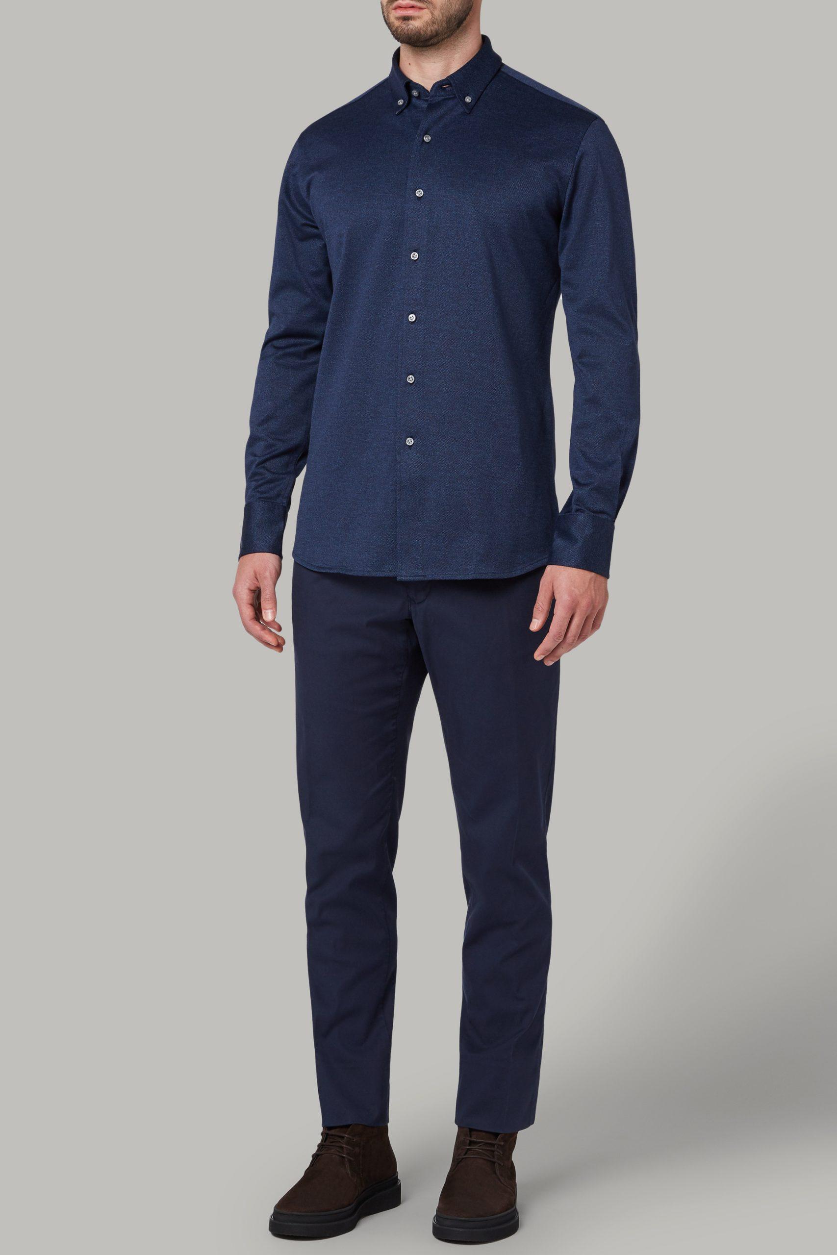 Camicie da uomo in colore Denim in materiale