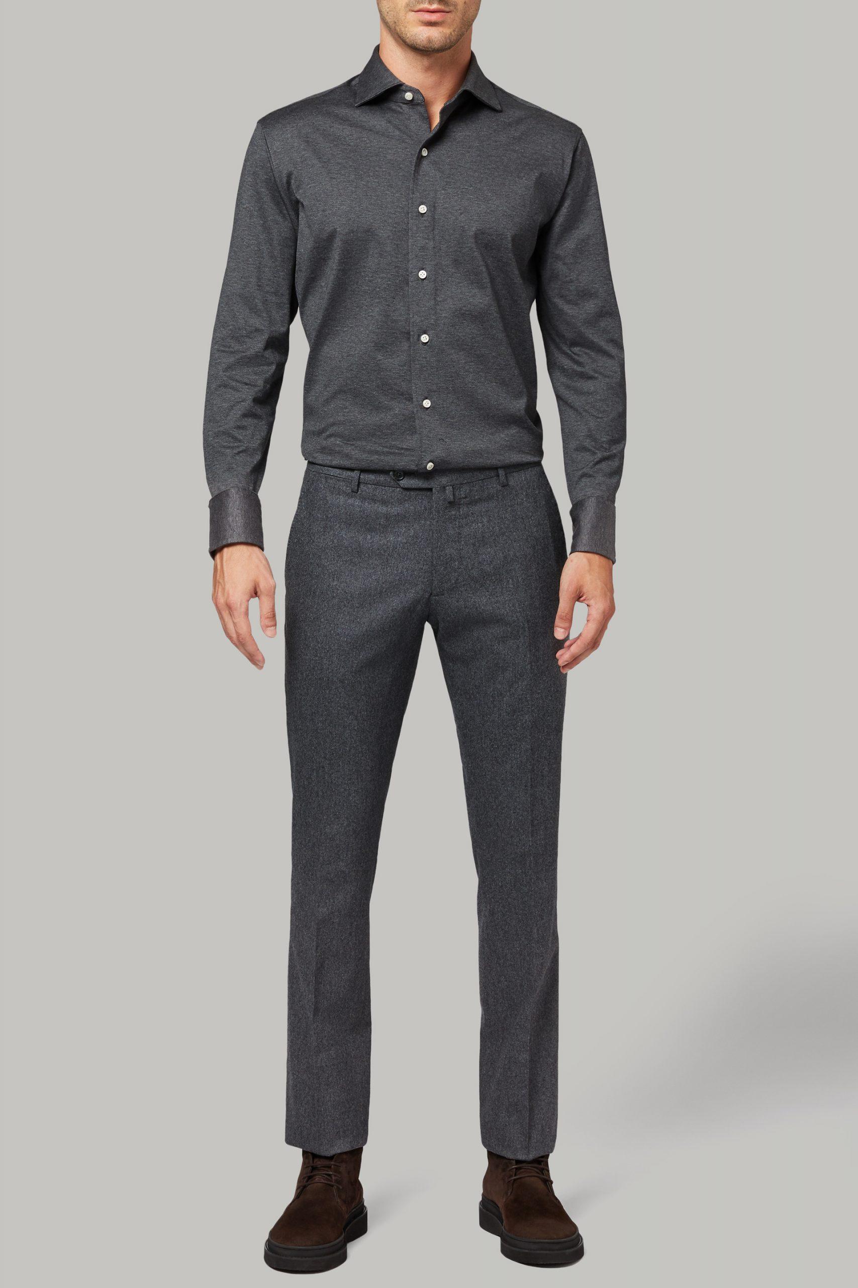 Camicie da uomo in colore Grigio in materiale