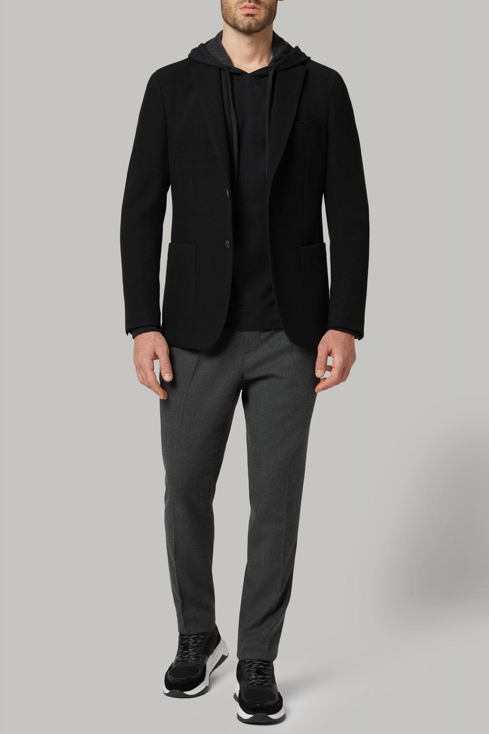 Blazers da uomo in colore Nero in materiale