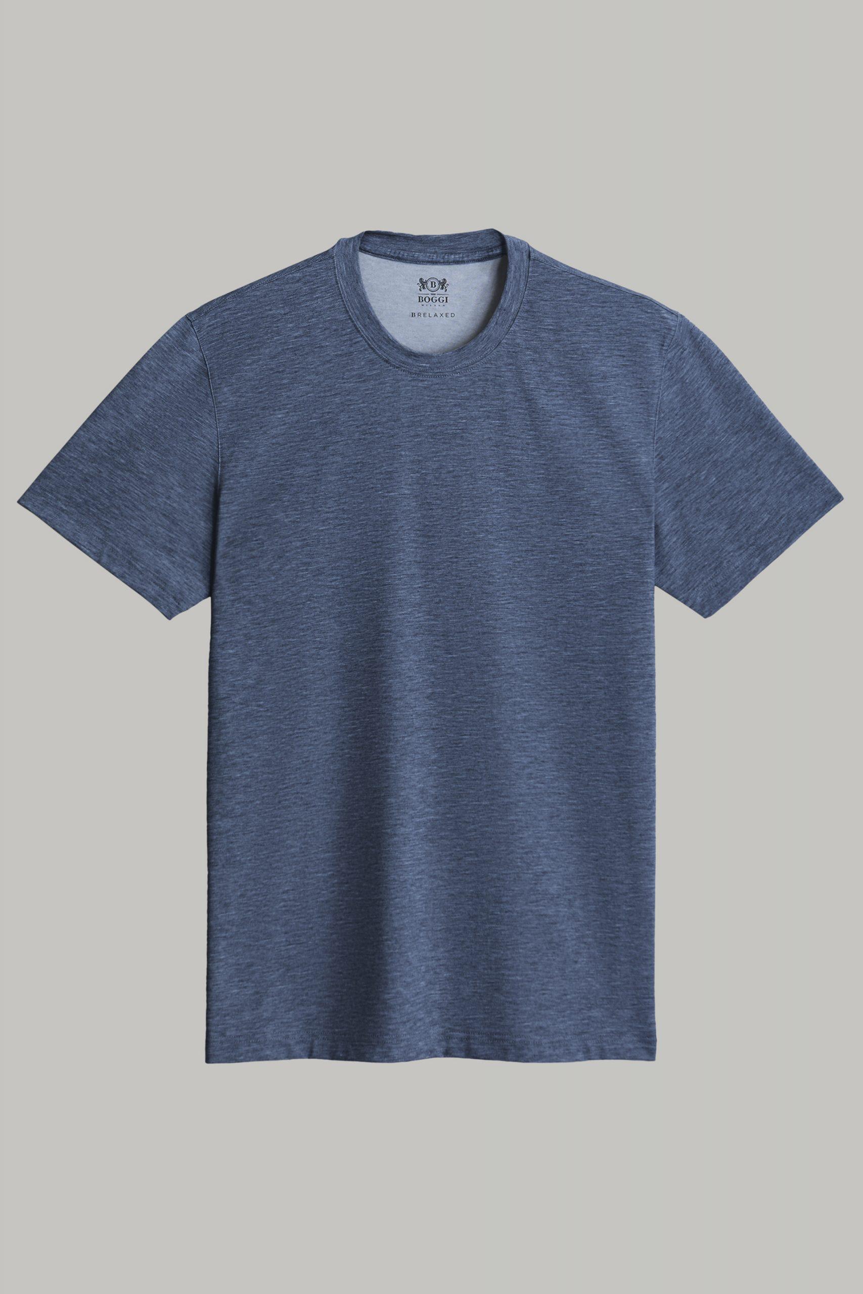 T-Shirts da uomo in colore Navy in materiale