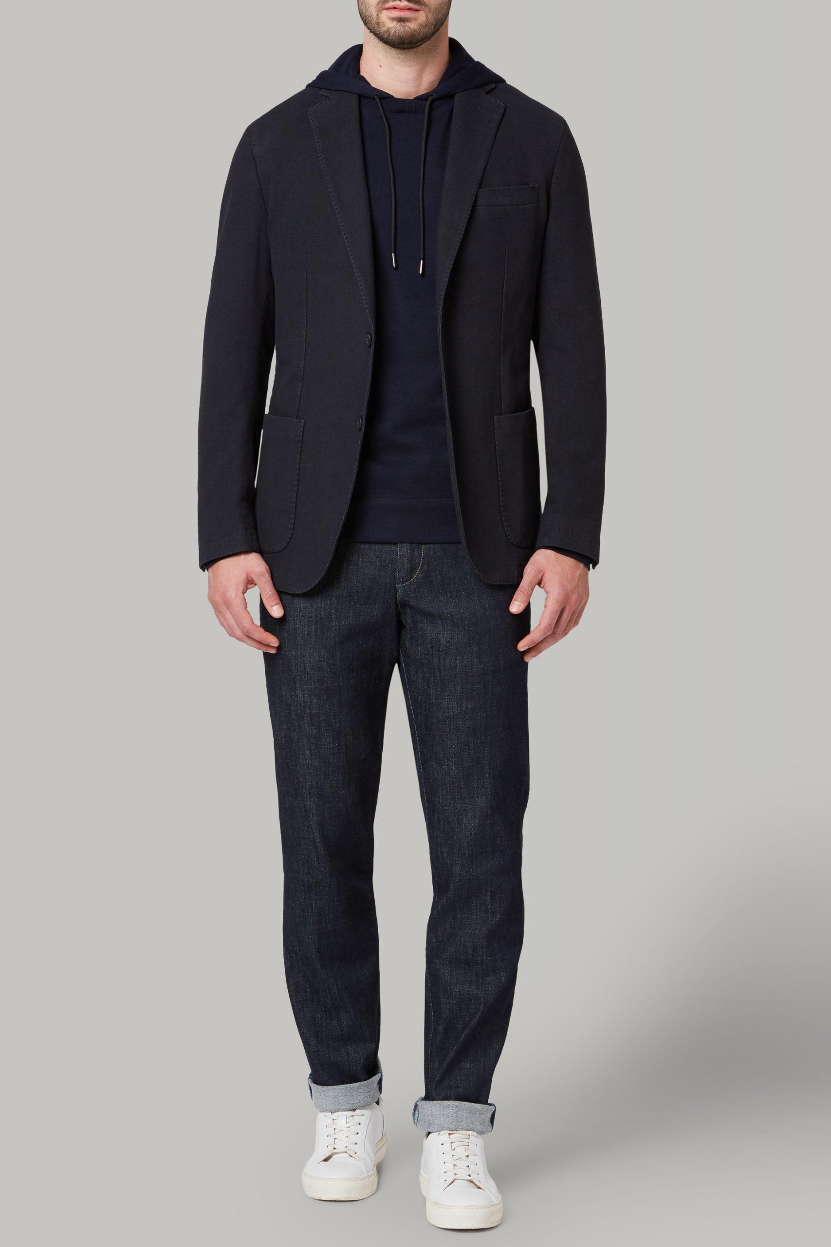 Blazers da uomo in colore Navy in materiale