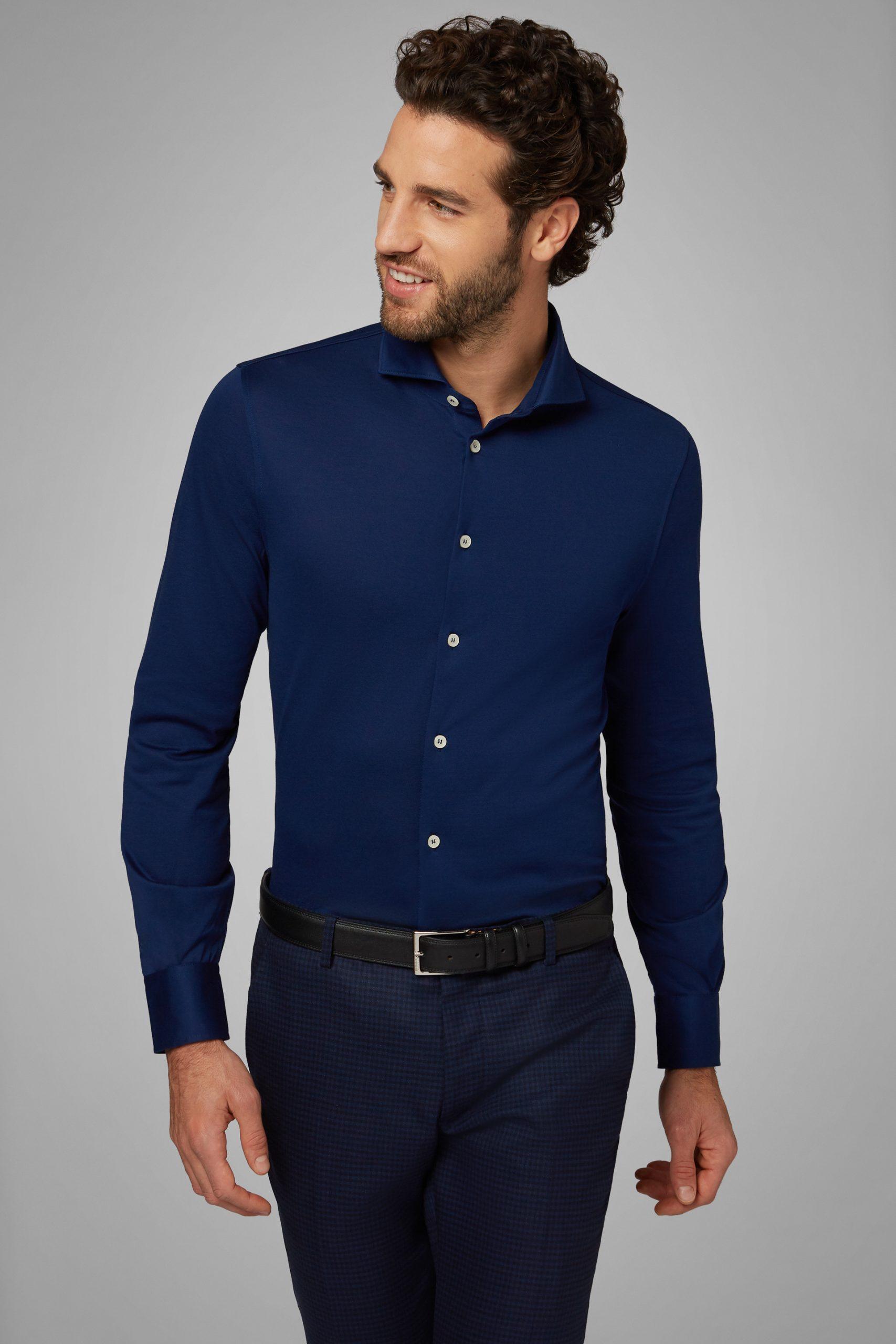 Camicie da uomo in colore Bluette in materiale