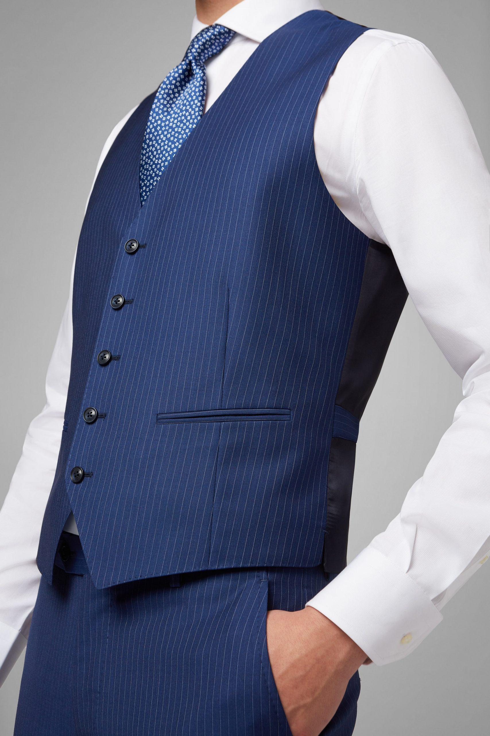 Gilet da uomo in colore Blu in materiale