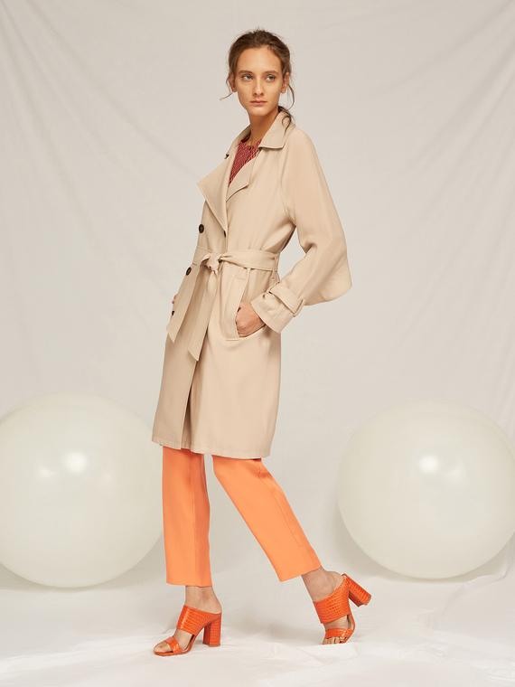 Caractere Cappotti e giacche > Cappotti e giubbotti Beige - Caractère Trench doppiopetto con cintura Donna Beige