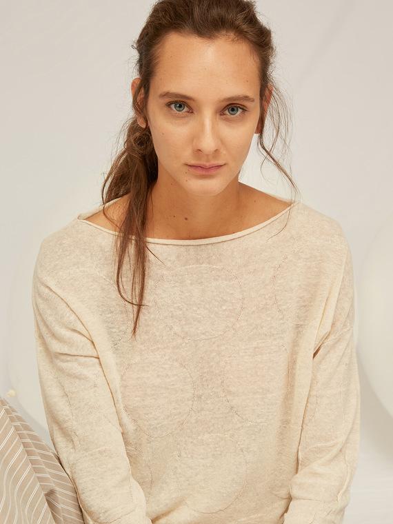 Caractere Abbigliamento > Maglieria e tricot Beige - Caractère Maglia a pois Donna Beige