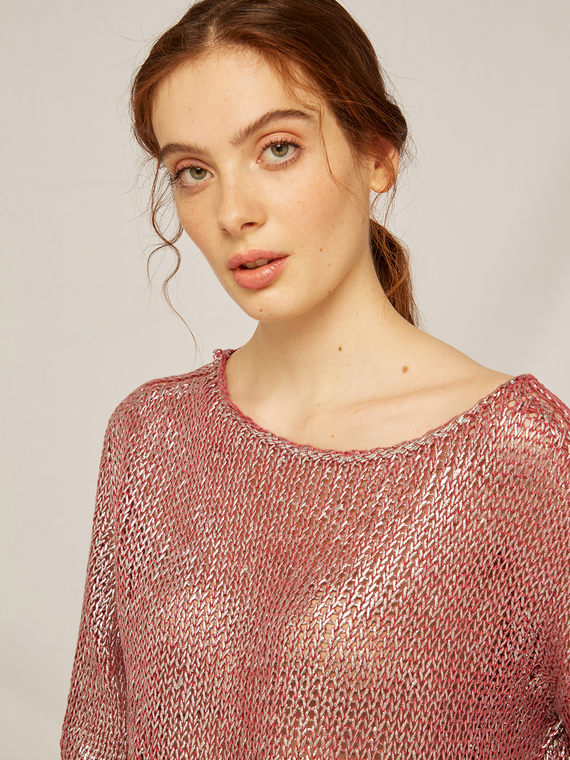 Caractere Abbigliamento > Maglieria e tricot Rosa - Caractère Maglia laminata Donna Rosa