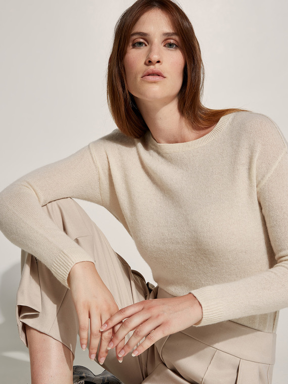 Caractere New season preview Beige - Caractère Maglia in cashmere Donna Beige