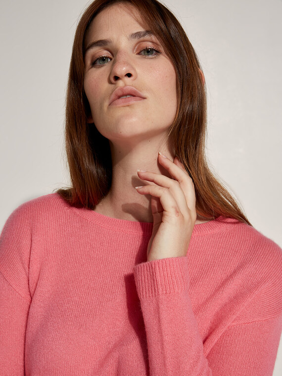 Caractere New season preview Rosa - Caractère Maglia in cashmere Donna Rosa