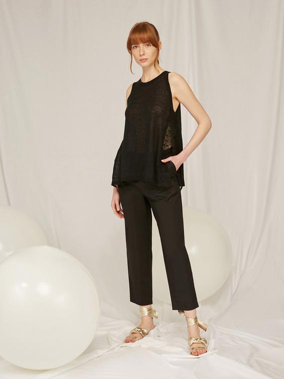 Caractere Abbigliamento > Pantaloni e jeans Nero - Caractère Pantaloni con coulisse Donna Nero