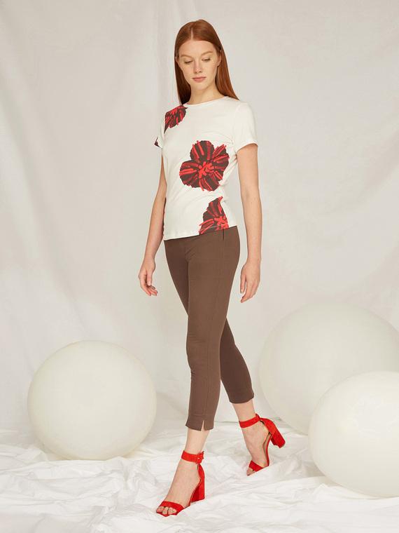 Caractere Abbigliamento > Pantaloni e jeans Marrone - Caractère Pantaloni dritti tailor made Donna Marrone