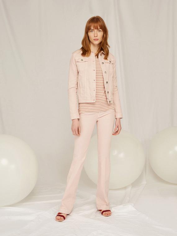 Caractere Abbigliamento > Pantaloni e jeans Rosa - Caractère Pantaloni flare in denim color Donna Rosa