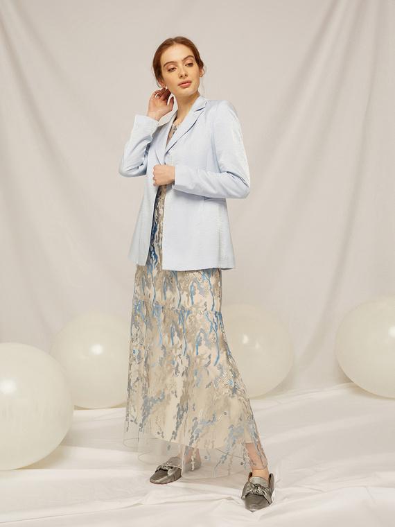 Caractere Cappotti e giacche > Giacche e blazer Blu - Caractère Giacca in tessuto effetto lurex Donna Blu
